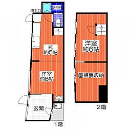 [一戸建] 大阪府堺市堺区六条通 の賃貸【/】の間取り