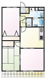 クラウンハウス[3階]の間取り