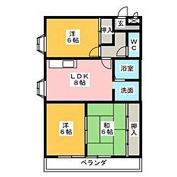 ロードマンション[2階]の間取り