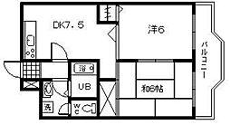 福岡県北九州市八幡西区光明2丁目の賃貸マンションの間取り