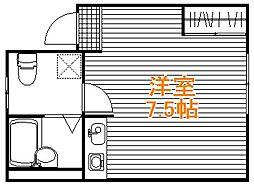 東京都板橋区赤塚新町3の賃貸アパートの間取り