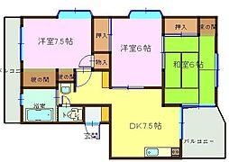 飯山マンション[301号室]の間取り