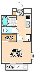 兵庫県神戸市須磨区妙法寺字乗越の賃貸マンションの間取り