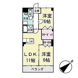 ルピナス矢作 1階[101号室]の間取り