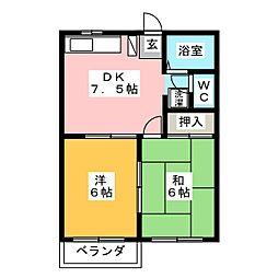パークサイド黒沢台[2階]の間取り