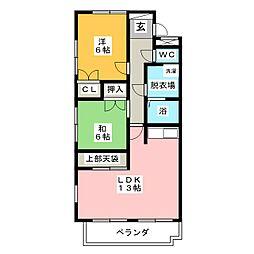 ハウスパンドビュー[3階]の間取り