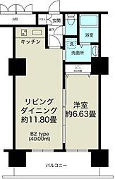 ノルデンタワー新大阪プレミアム[4階]の間取り