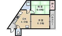 ライズワン天王寺北2[1F号室]の間取り