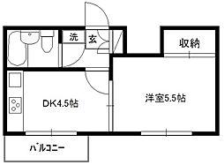 マンションフロール1[3階]の間取り