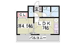 サンビルダー神戸山ノ手[4階]の間取り