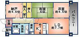 アロッジオKTI[103号室]の間取り