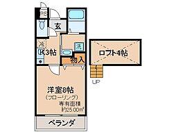 京都府宇治市五ケ庄寺界道の賃貸マンションの間取り