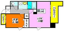 アールパンション・高井田807号室[8階]の間取り