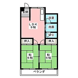 藤清コーポ[4階]の間取り