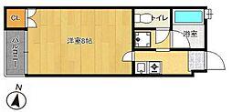 PLEAST姪浜III[3階]の間取り
