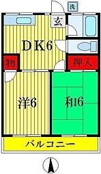 松丸荘[203号室]の間取り