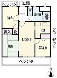 公和ビル[4階]の間取り
