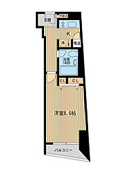 HF三田レジデンス[2階]の間取り