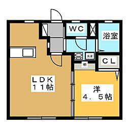 メゾンITO[1階]の間取り