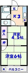 徳丸マンション[3階]の間取り