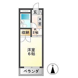 安田学研会館 北棟[3階]の間取り