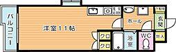 オークランドアサート折尾[4階]の間取り