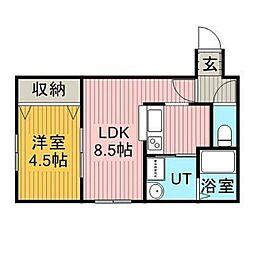 ルフォートK-II[1階]の間取り
