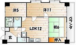 いわきマンション大里[4階]の間取り