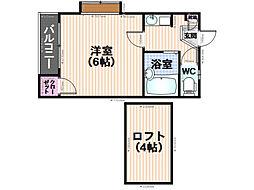 ムーン井尻[1階]の間取り