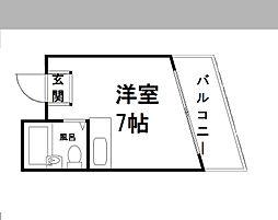 宝ハイツ塚本[203号室]の間取り