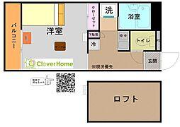 神奈川県相模原市南区上鶴間本町6丁目の賃貸アパートの間取り