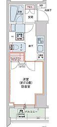 JR山手線 田町駅 徒歩5分の賃貸マンション 4階1Kの間取り