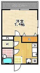 滋賀県大津市唐崎2丁目の賃貸アパートの間取り