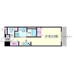 DAIWA RESIDENCE IBARAKI 8階1Kの間取り