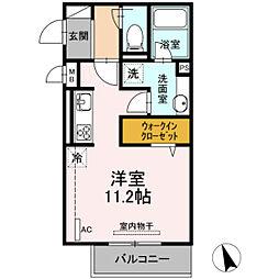 広島電鉄5系統 段原一丁目駅 徒歩17分の賃貸アパート 2階ワンルームの間取り
