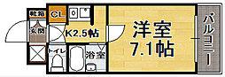 福岡県福岡市中央区大手門2丁目の賃貸マンションの間取り