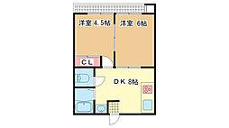 兵庫県神戸市兵庫区芦原通2丁目の賃貸マンションの間取り