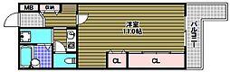 メゾンアルカディア金剛[4階]の間取り