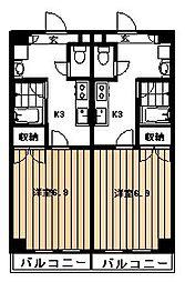 鶴川サークビル[3階]の間取り