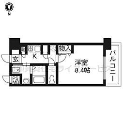 エイペックス京都室町[5階]の間取り