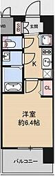 Osaka Metro中央線 九条駅 徒歩4分の賃貸マンション 3階1Kの間取り