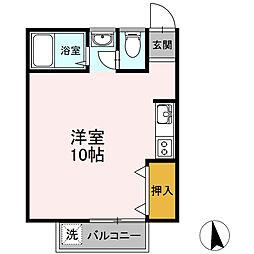 東京都八王子市暁町1丁目の賃貸アパートの間取り