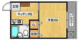 大須ハイツ[3階]の間取り