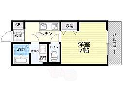 Chichiri 2階1Kの間取り