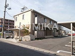 岡山県岡山市北区平田の賃貸アパートの外観