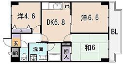 グランシャトレー DAIWA[7階]の間取り