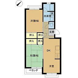 笠川83番館[201号室]の間取り