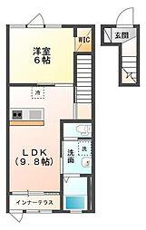 木更津市金田東1丁目新築アパート[202号室]の間取り