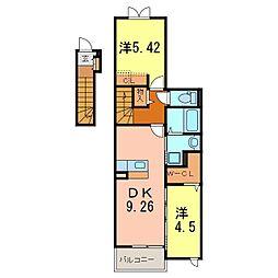 プラスワン神明A[2階]の間取り
