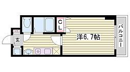 スワンズコート新神戸[602号室]の間取り